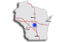 Map to Dyracuse Wisconsin Rapids